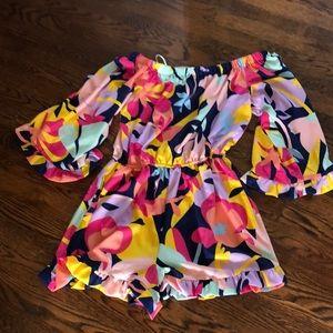 Laundry  Colorful Off Shoulder Romper